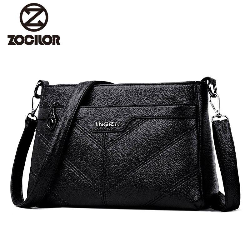 Hot 2018 Vintage PU Leather Women Bag Fashion Small Women Messenger Bag Single Strap Shoulder Bag Ladies Crossbody Bags