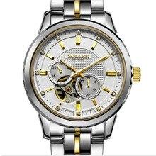 Tourbillon Esqueleto Reloj de Los Hombres de Primeras Marcas de Lujo Relojes hombres de Acero Inoxidable 316L Automatico Relogio Masculino Heren Horloge