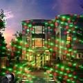Luces de navidad al aire libre Proyector de Luz Láser Proyector Impermeable 20 Patrón Láser Al Aire Libre decoraciones de navidad para el Club de casa