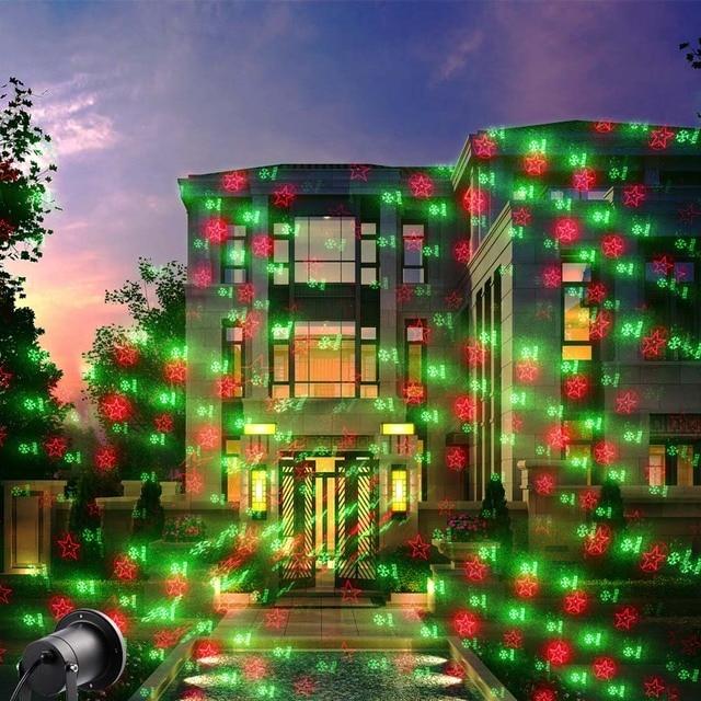 ea11bba46c2 Luces de navidad al aire libre Proyector de Luz Láser Proyector Impermeable  20 Patrón Láser Al