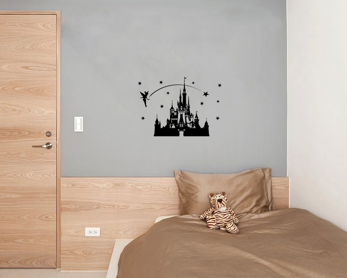 Carton Castle Fairytale Princess Tinkerbell Wall Art Decal Sticker - Decoración del hogar - foto 3