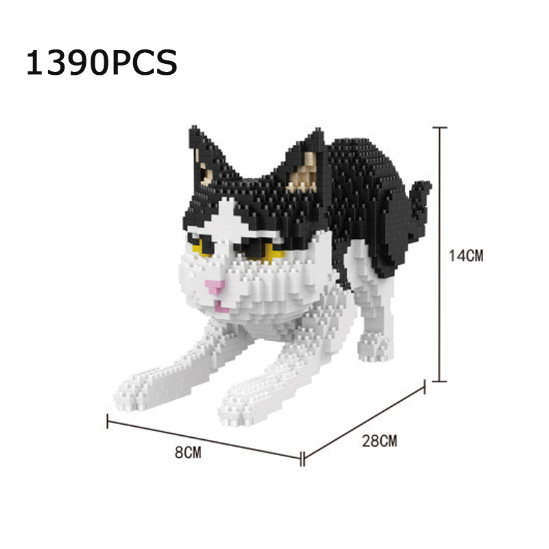 Lovely children gift animal micro diamond building block simulation cat nanoblock kitty bricks toys home decoration for gifts стоимость