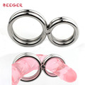 high quality stainless steel,two ring 33mm & 22mm,adult products,sex delay toys