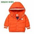 SOGNI KIDS Christmas Girls Winter Coat Brand Kids Winter Jacket Cute Pattern Emborideried Boys Jacket Children Outerwear Coats