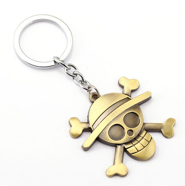 One Piece Luffy Straw Hat Copper Key Ring