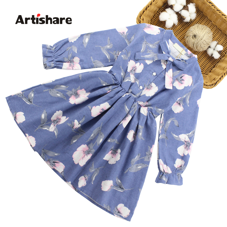 Kleider Kleider Für Mädchen Floral Muster Kinder Mädchen Kleid Langarm Kinder Party Kleid Teenager Mädchen Kleidung 6 8 10 12 13 14 Jahr Mutter & Kinder