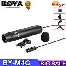 BOYA BY-M4C Phantom Power Clip-On Cardioid XLR Lavalier miniphone for Canon Sony Panasonic Camcorders ZOOM H4n H5 H6 TASCAM Au