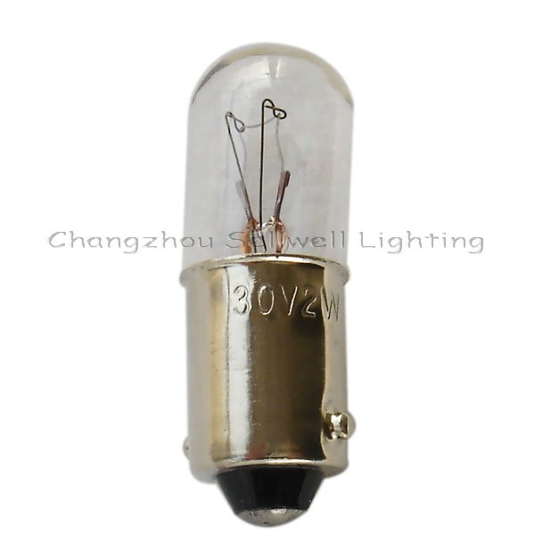 Great!miniature Lamp Ba9s T10x28 30v 2w Super Bright 10pcs A035