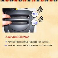 Dual System - NES & Sega Genesis (Supports MD) Console 1