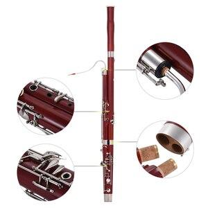 Image 4 - Ammoon C キーファゴットカエデ材ボディ白銅シルバーメッキキー木管楽器リード手袋キャリングケース