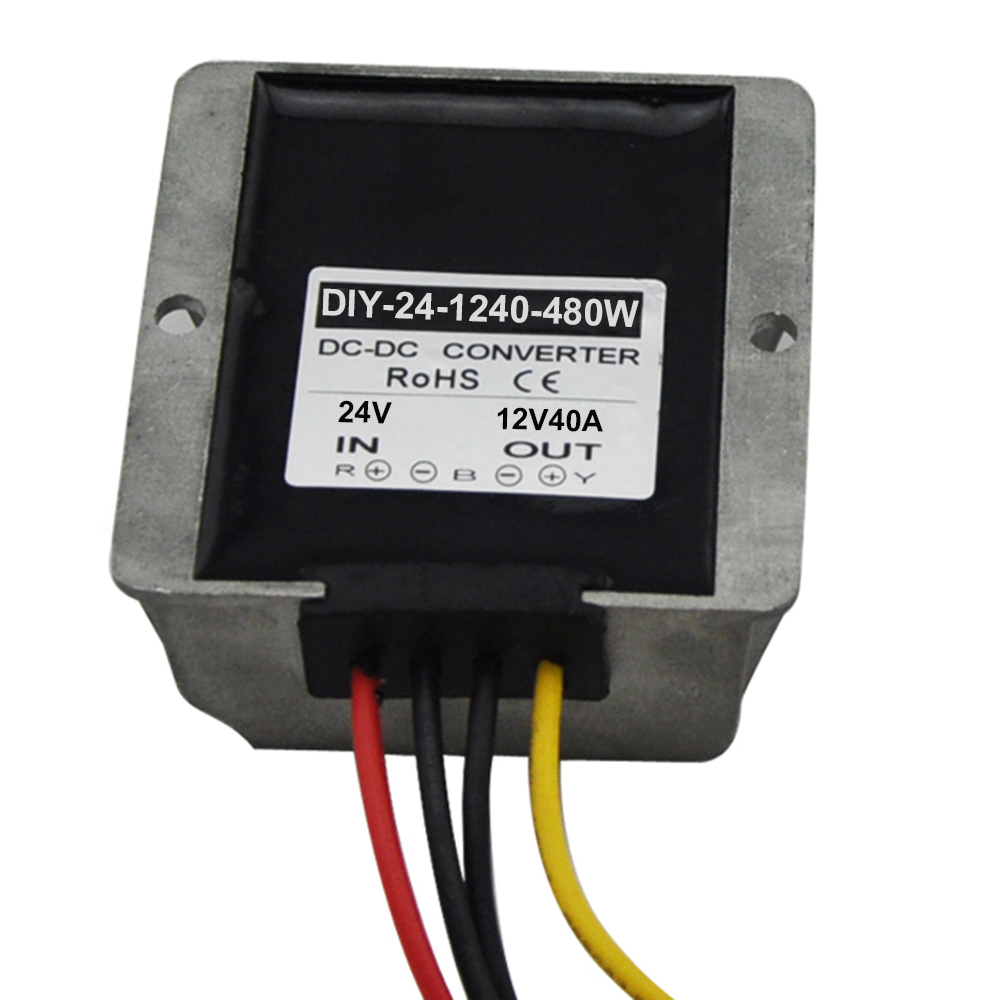 DC 24V 36V(15V-40V Step Down To 12V 40A 480W Dc To Dc Power Converter Buck Module Car Power Adapter Voltage Regulator Waterproof safe no spark dc 12v permanent magnet brushless direct motor positive reversal 10w 4000rpm speed regulating motors