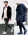 Moda 2017 calças oeste marca Santo Manshion Impulsionar O Temor de Deus dos homens Zíper Lateral fino Calças basculador Casuais 2 cores