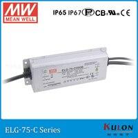 Original MEAN WELL ELG-75-C500A ajustável atual LED driver 250 ~ 500mA 75 ~ 150 V 75 W meanwell fonte de alimentação ELG-75-C