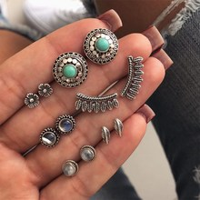 Womens earrings retro boho beaded feather pendant fashion punk temperament personality party jewelry 2019