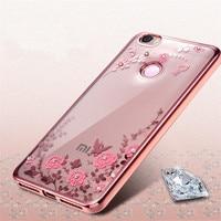 KRY Soft TPU Phone Cases For Xiaomi Redmi Note4 Clear Transparent Diamond Phone Case For Xiaomi