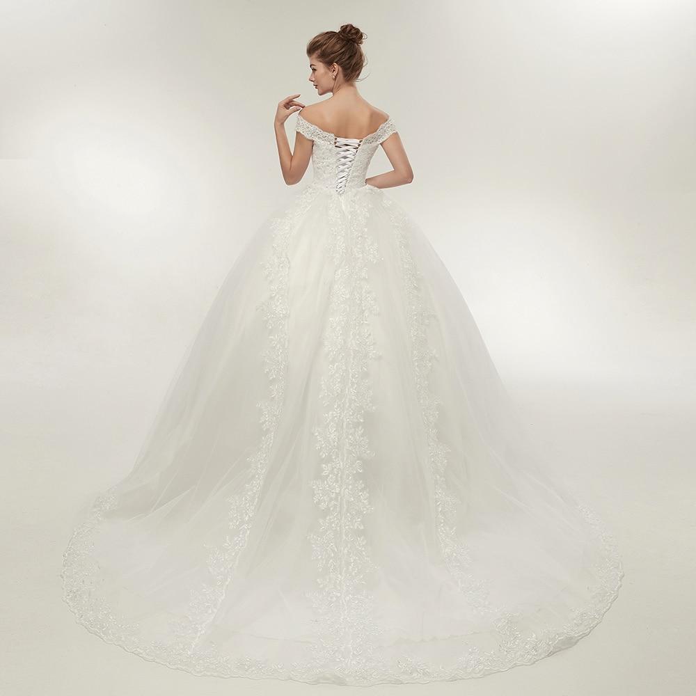 cdf85248eb8  Hot Sale  Fansmile Free Shipping Vintage White Long Train Wedding Dresses  2017 Vestidos de Noivas Plus Size Bling Bridal Gowns FSM-121T -  www.prodesign.me ...