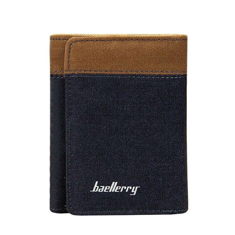Новые модные 3 раза ультра тонкий холст портфель мужские кошельки Повседневная и бизнес-дизайнеры мужской клатч Деньги сумки кошелек