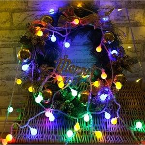 Image 4 - 10 متر 20 متر 30 متر 50 متر 220 فولت الجنية جارلاند LED الكرة سلسلة أضواء مقاوم للماء مصباح للزينة لشجرة عيد الميلاد لوازم ديكورات زفاف للمنزل