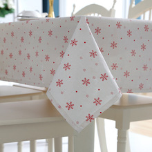 LYN&GY Tablecloth Decorative Party Merry Christmas Dinner Rectangular Printed Cartoon Dustproof Table Cover Dropshipping