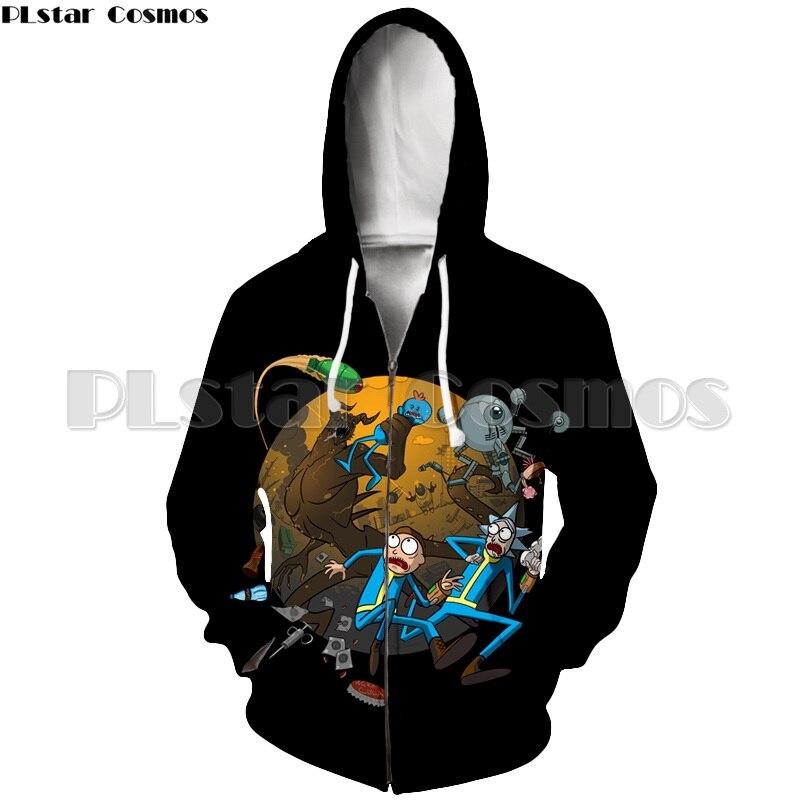 New Casual Zipper Hoodies Rick And Morty Sweatshirts 3D Print Scientist Rick Sweatshirt For Men/Women Brand Cartoon Jacket Tops