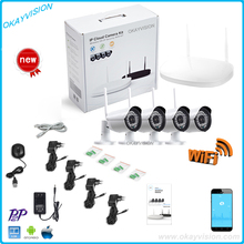 New Listing hd Plug and Play Wireless NVR Kit with 4pcs P2P 960P HD Outdoor IR Night Vision Security IP Camera WIFI CCTV System