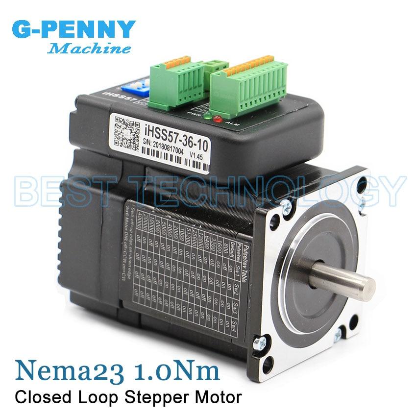 Nema23 1.0Nm 142Oz-in Integrated Stepper Servo Motor with Drivers 57x56mm 20-50v 4.0A Hybrid Servo Stepper Closed Loop Motor nema23 2nm 283oz in integrated closed loop stepper motor with driver 36vdc jmc ihss57 36 20