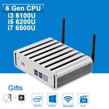 Мини-Компьютер PC Intel Core i3 i5 i7 6200U 6100U 6500U 8 Г RAM H6th Gen Skylake CPU 4 К HD HTPC VGA HDMI 300 М WI-FI DDR4 Windows 10