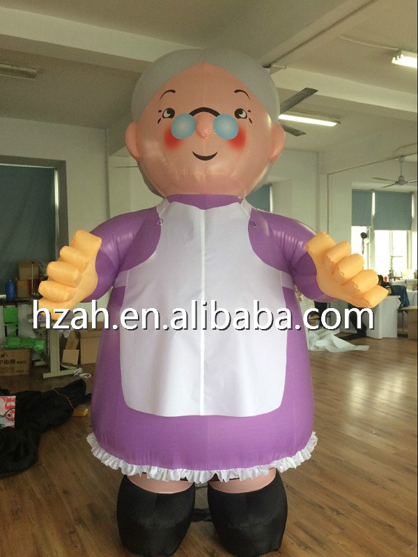 Giant Inflatable Grandma Cartoon Model For Advertising Decoration