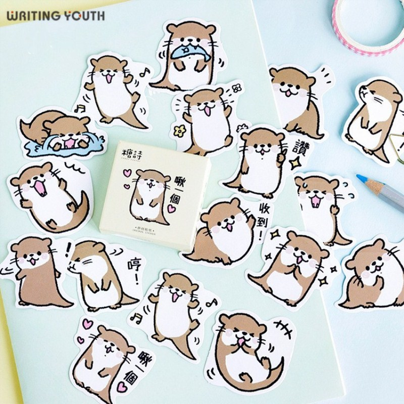 Cute Small Otter Bullet Journal Stickers Scrapbooking Child Diary DIY Kawaii Stickers Supplies Stationary Gift Supplies