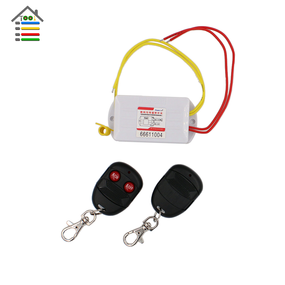 AUTOTOOLHOME 2 Way ON/OFF AC220V or 12V Digital Wireless Remote Control Switch 2 Controller For Light Lamp