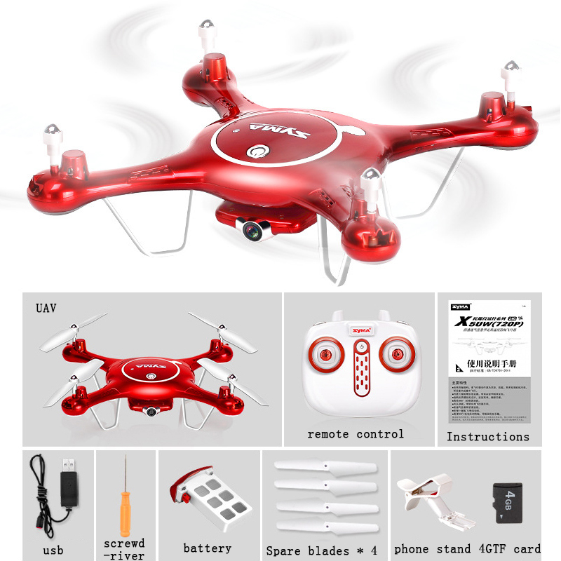 2MP SYMA X5UW Drone with WiFi Camera HD Real-time Transmission FPV Quadcopter 2.4G 4CH RC Helicopter Dron Quadrocopter Drones jjrc h12c rc helicopter 2 4g 4ch rc quadcopter drone dron with hd camera vs x5sw x6sw mjx x101 x400 x800 x600 quadrocopter toys