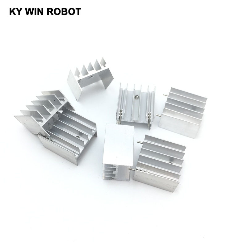 10pcs Aluminium TO-220 Heatsink TO 220 Heat Sink Transistor Radiator TO220 Cooler Cooling 25*23*16MM White With 2Pin