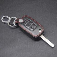 Кожаный чехол для ключей с дистанционным управлением для LADA Vesta Sedan Largus Kalina Granta 3 кнопки флип-ключ L1236 чехол для ключей