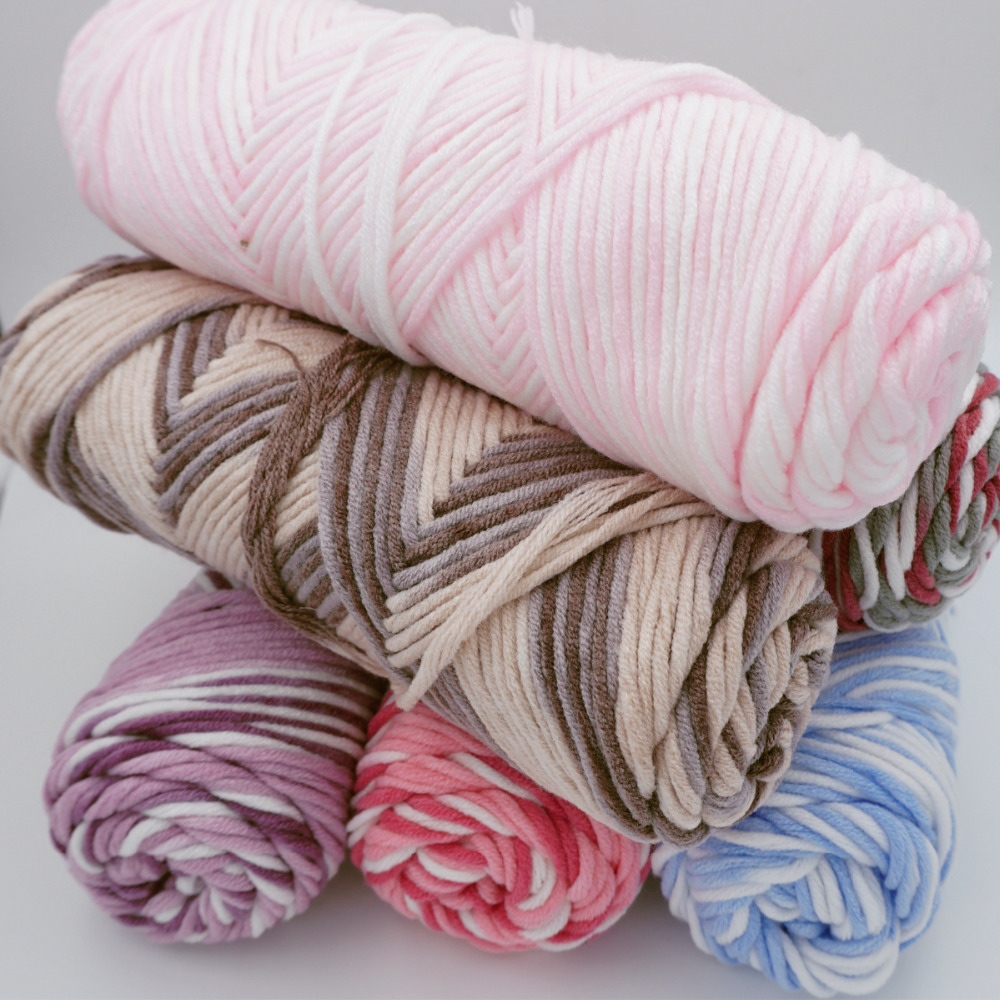 6 Pieces Baby Cotton Yarn Natural Soft Milk Thick Yarn For