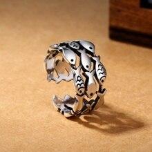 S925 Silver Finger Ring Women Retro Open Ring цена