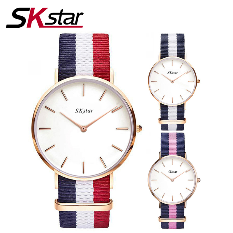 Watches Women Fashion Watch 2017 Unisex Watches SKstar Rose Gold Silver Lady Clock Men Relogio Masculino