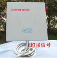 14dB 2.4 GMHz Wireless WiFi WLAN Antena de Panel Exterior con cable de 3 metro 1 unids/lote