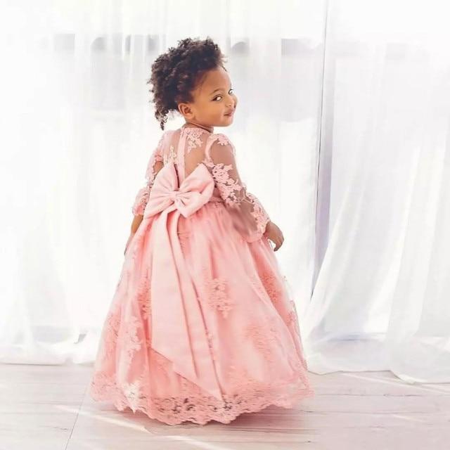 Cute baby toddler abiti fiore per le ragazze con l arco appliques prezzo  poco costoso d243b07e1e1