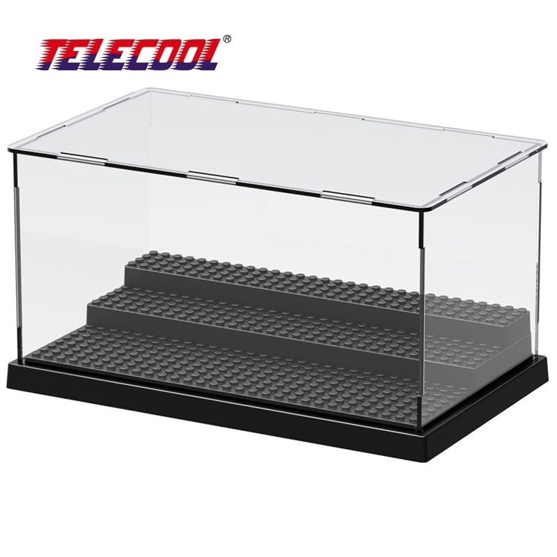 TELECOOL Building Block Display For Figuress Star Wars The Force Awakens Super Heroes Acrylic Box Showcase Ladder Cabinets Toys