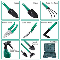 10pcs With Case Rake Plant Gifts Non Slip Handle Practical Multifunctional Gardening Tools Set Mini Easy Storage Digging Weeder