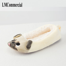 New Winter Indoor Slippers Plush Home Shoes dog Slippers for Grown Ups Unisex Warm Home slippers