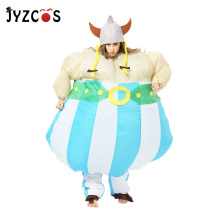 JYZCOS Viking Inflatable Costume Vikinger Cosplay Purim Halloween Carnival for Adult Men Women Party Fancy Dress