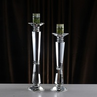 Handmade Crystal Candle Holders Glass Flower Vase Rack Candle Stick Wedding Table Centerpiece Event Road Lead Candle Stands