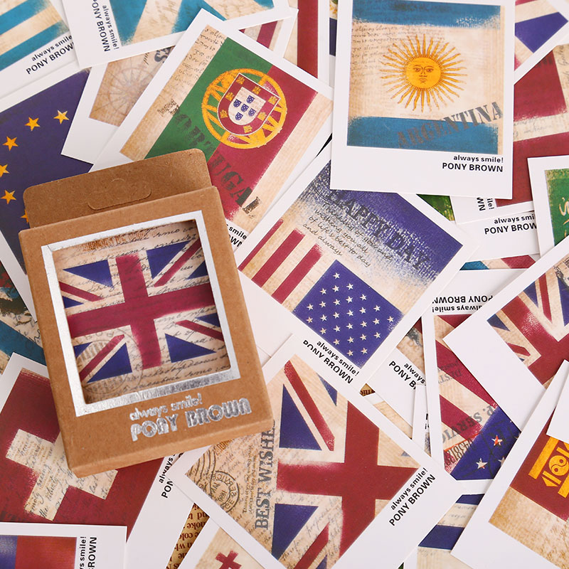 40 Pcs/lot Vintage Lomo Flag Mini Greeting Card Postcard Birthday Letter Envelope Gift Card Set Message Card