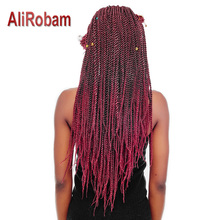 hot deal buy alirobam senegalese twist hair crochet synthetic braiding hair extensions african american braids pure/ombre braids 30roots/pack