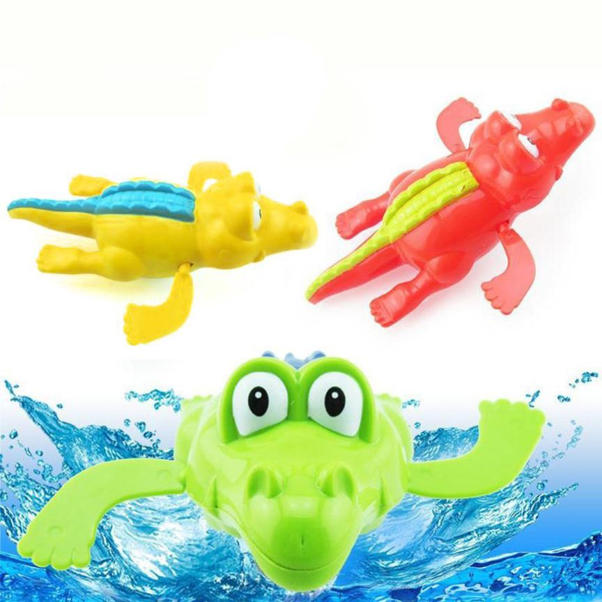 Baby Bath Swimming Toy Crocodile Wind Up Clockwork Play Educational Toy For Kids L212