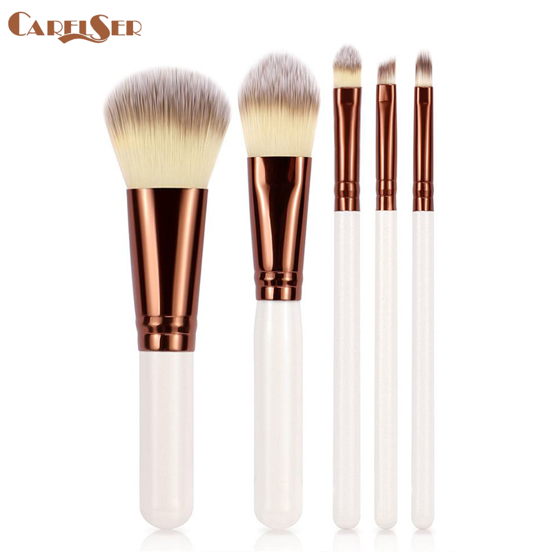 New 5pcs Cosmetic Makeup Brush Blusher Eye Shadow Brushes Set Kit Cream Cosmetics Blending Brush Tool Make-up Pincel Maquiagem