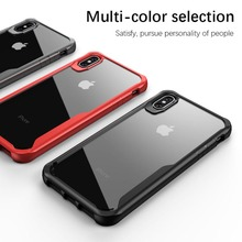 Phone Cases for iPhone X XS Max XR TPU Shockproof Camera Protection Back Cover Shell for iPhone 6 6S 7 8 Plus Phone Accessories