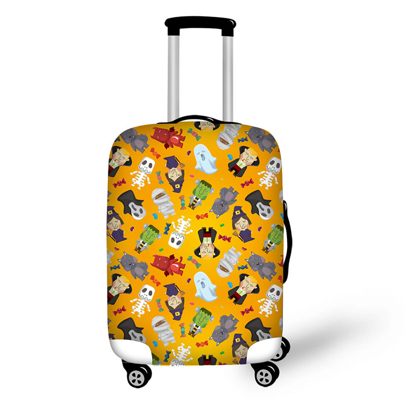 Luggage Cover Protective Washable Suitcase Protector Cover Travel Elastic Spandex Baggage Protector Diamonds Triangle Geometric Print Fit 18-32 Inch