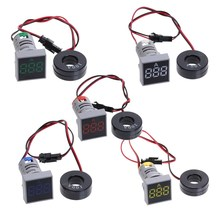 22MM AC 20-500V Voltmeter 0-100A Ampere Square Panel LED Digital Voltage Meter Indicator Light цены